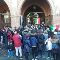 Cerimonia della posa delle pietre di inciampo dei fratelli Pincolini e di Gualtiero Rebecchi