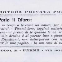 Etichetta della Biblioteca privata Polizzi