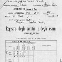 Registro scolastico della scuola elementari di Riccò (Fornovo), anno scolastico 1940-1941. Archivio Isrec Parma.