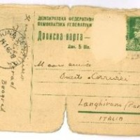 Telegramma inviato da Belgrado a Onesto Coruzzi da Liko il 14 gennaio 1946  * Dalla ricerca della VB dell'Istituto
