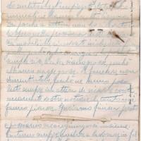 Lettera di Gino Amadasi ai suoi cari, conservata presso Archivio ANRP Parma (ISREC Parma)