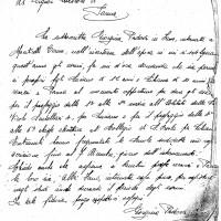 Terza lettera inviata da Giorgina Padova, dal campo di concentramento di Monticelli Terme, al Questore di Parma. Originali conservati presso l'Archivio di Stato di Parma.