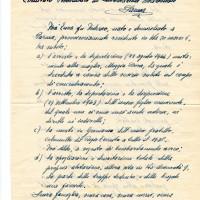Documento inviato da Enea Foà - padre di Giorgio Nullo e marito di Doralice - nel dopoguerra al Cln. Pagina 1