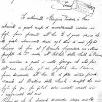 Prima lettera inviata da Giorgina Padova, dal campo di concentramento di Monticelli Terme, al Questore di Parma. Originali conservati presso l'Archivio di Stato di Parma.