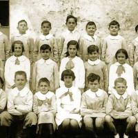 La classe di Roberto Bachi quando frequentava la scuola