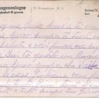 Cartolina di Ravanetti alla sua