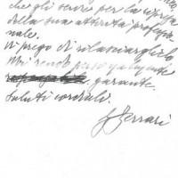 Seconda pagina della deposizione di Giacomo Ferrari per Samuel Spritzman, ottobre 1945. Archivio istituto storico della Resistenza e dell'età contemporanea di Parma, Fondo privato Samuel Spritzman