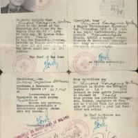 Documento di ritorno di Samuel Spritzman